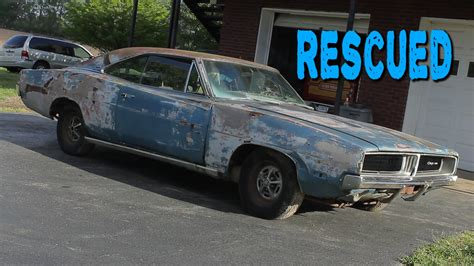 ABANDONED 1969 Dodge Charger Sitting for 20 Years   YouTube