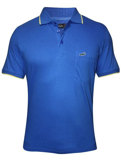 Polo Crocodile Polos crocodile royal blue pocket polo t shirt numero ae imperial blue yellow cilory