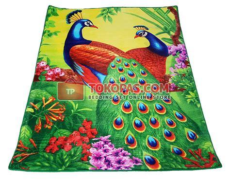 Karpet Karakter Coklat karpet selimut bulu halus lembut motif kartun bunga