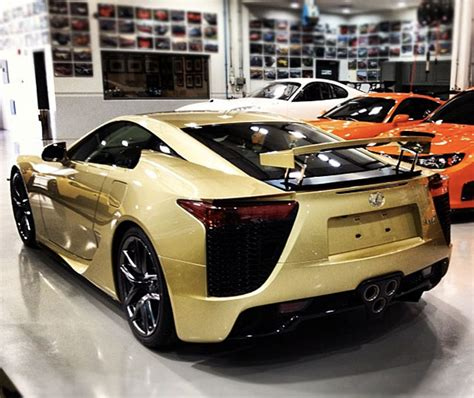 lexus gold crystal gold lexus lfa rear