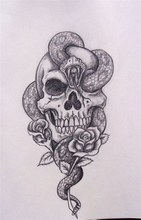 tattoo gun for animals skull snake roses by davart11 d344o2q jpg 900 215 1 403 pixels