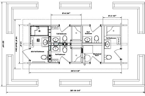 restroom floor plan ada bathroom requirements