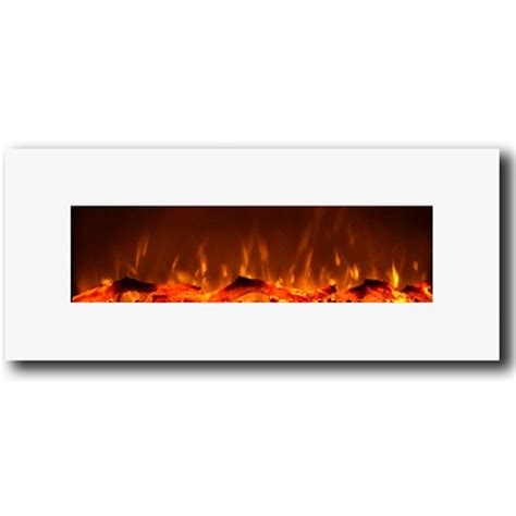 Electric Wall Fireplace Liberty 50 Inch Electric Wall Mounted Fireplace White