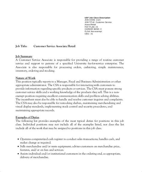 resume for customer service job description krida info