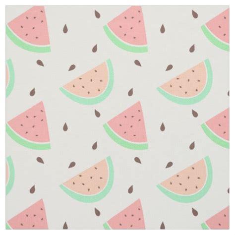 cute pattern fabric cute watermelon pattern fabric zazzle