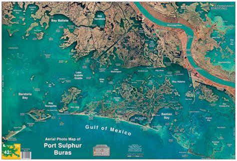louisiana fishing map port sulphur buras aerial chart la42 keith map service inc