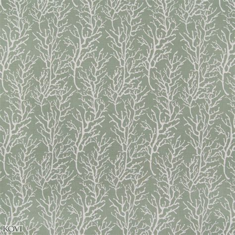 Sage Green Beach Print Upholstery Fabric