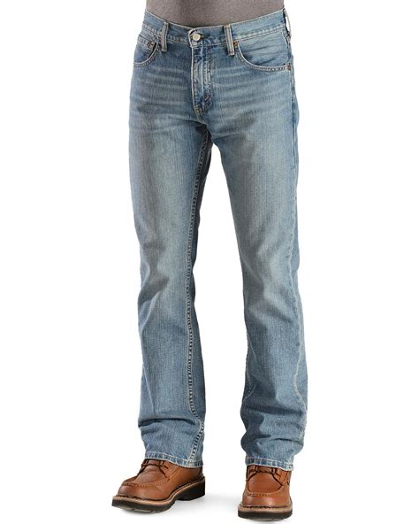 mens low rise boot cut levis s levi s 527 prewashed low rise boot cut