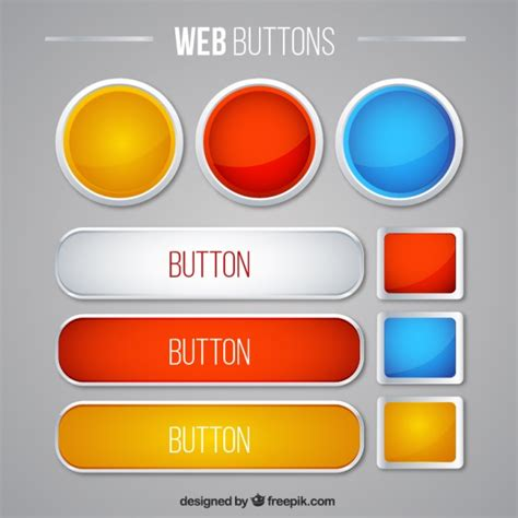 Button Vectors Photos And Psd Files Free Download Button Website Template