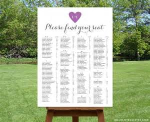 printable alphabetical wedding seating chart 2500899