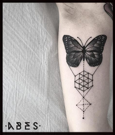 geometric butterfly tattoo geometric butterfly by abes tattoonow