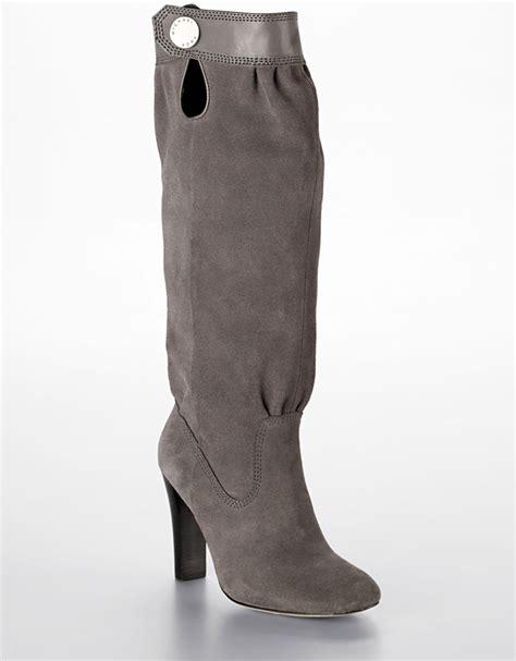 michael michael kors harness boots in gray grey