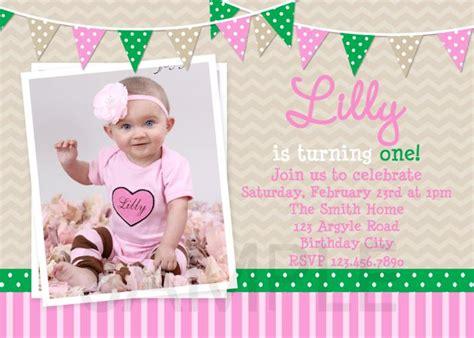 printable 1st birthday invitations girl 1st birthday invitations girl free template baby girl s