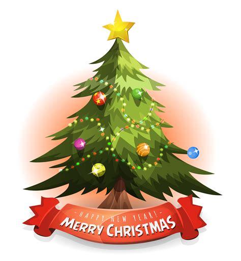 christmas tree  wishes banner   vectors clipart graphics vector art