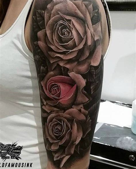 rose sleeve tattoo for men 66 best tattoos images on sleeve tattoos
