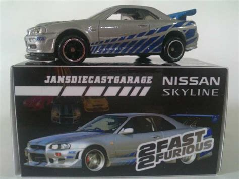 Decal 2 Fast 2 Furious For Hotwheels R34 nissan skyline r34 fast and furious jdcgarage