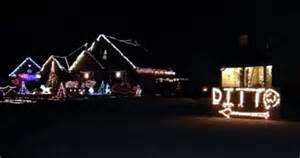 christmas lights ditto amuses neighbors in medina
