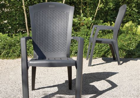 chaise allibert allibert minnesota chaise empilable graphite allibert