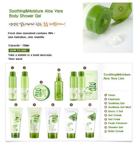 Nature Republic Soothing And Moisture Aloe Vera 90 Toner nature republic soothing moisture aloe vera 90