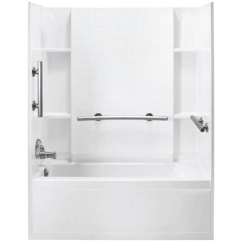 sterling accord bath shower sterling accord 31 1 4 in x 60 in x 73 1 4 in bath and shower kit with left drain in