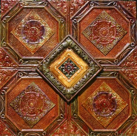 4x4 antique tin ceiling tiles 4 way painting ceiling