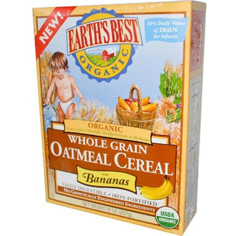 whole grains for toddlers organic whole grain oatmeal cereal with banana 8 ounces