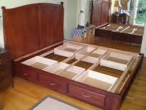How To Make A King Size Platform Bed - fascinating beds with drawers for super convenient sleeping space homesfeed