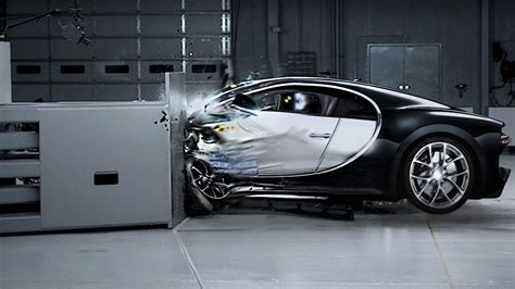 bugatti chiron crash bugatti chiron crash test 2016 youtube