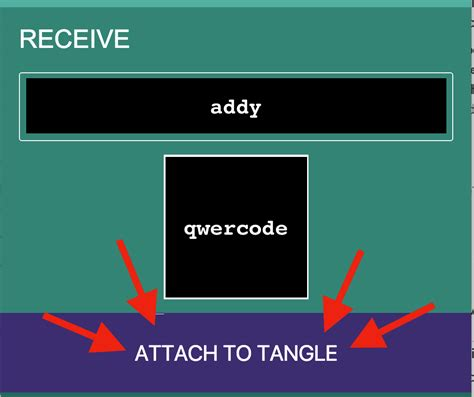 tangle javascript what does quot attach to tangle quot do on the receive screen general iota forum