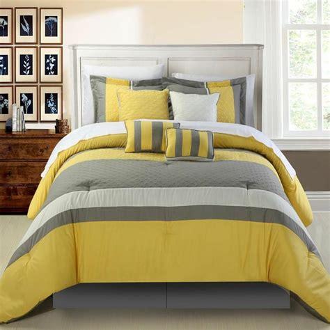 yellow queen comforter diamante yellow queen 12 piece comforter bed in a bag set