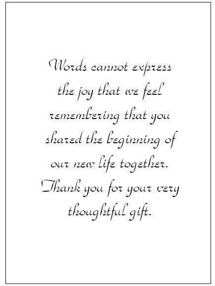 wedding   note wording   card templates