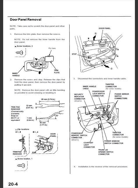how to remove door panel acurazine acura enthusiast service manual remove door panel 2004 acura mdx how to remove door panel acurazine acura