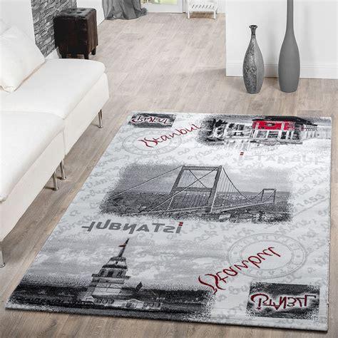 motiv teppiche teppich modern istanbul bosporus br 252 cke motiv teppich
