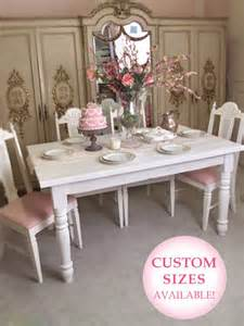 shabby french chic vintage farmhouse farm table white wood