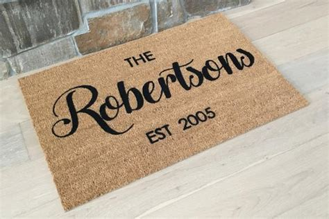 Personalized Doormats by Personalized Doormat Etsy