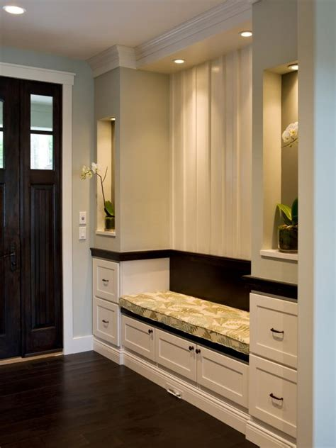 entryway built in cabinets photo page hgtv