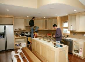 home remodelling installing a kitchen island kitchen remodeling