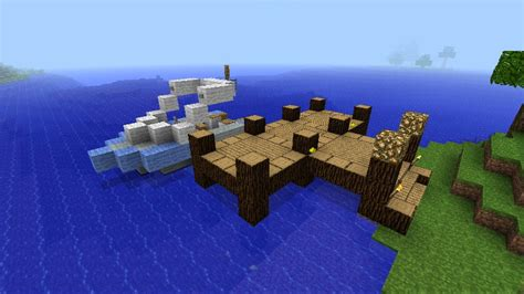 party boat water ski boat with dock minecraft project - Boat Dock Minecraft