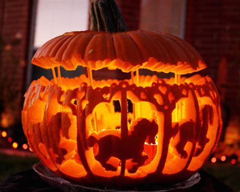 creative pumpkin carvings  spice   season