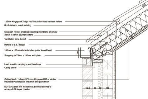 Slate Roof Section by Slate Roof Gutter Detail Search Gutters