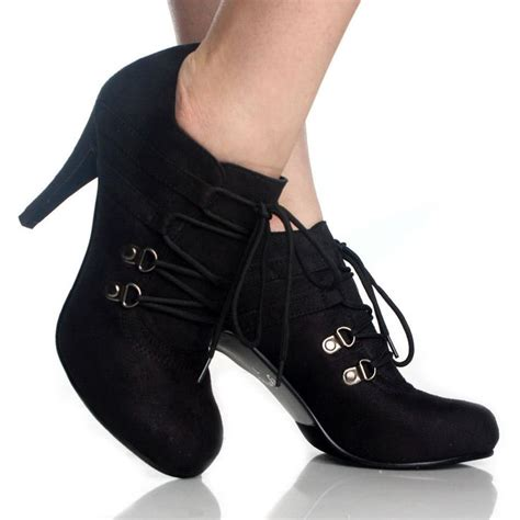 images of womens boots booties lace up ankle booties black high heels steam womens dress