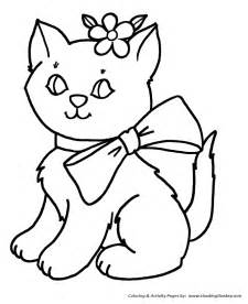 kitty cats colouring pages