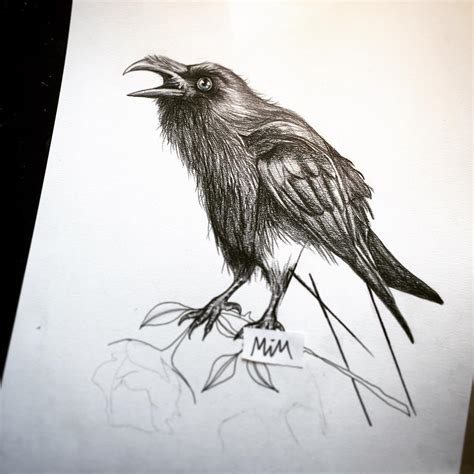 ravens tattoo 75 best designs all meanings 2018