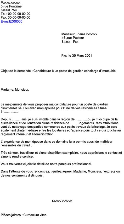 Exemple De Lettre De Motivation Gardien D Immeuble Ebook Lettre De Motivation De Proprete Candidature Spontanee