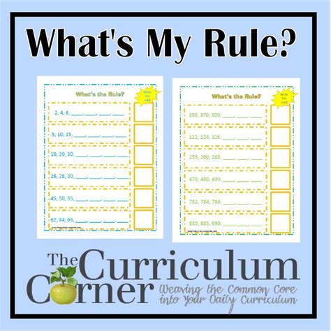 number pattern and rule worksheet 1000 images about math number patterns on pinterest