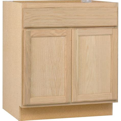 Kitchen Cabinet Bases Assembled 30x34 5x24 In Base Kitchen Cabinet In Unfinished Oak B30ohd The Home Depot