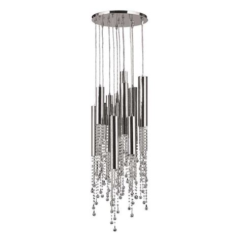 Chrome Flush Mount Ceiling Light by Worldwide Lighting Metropolis 15 Light Chrome