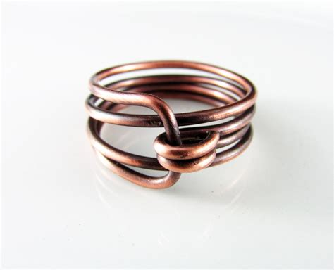 wire wrapped ring copper wire wrapped jewelry copper wire ring