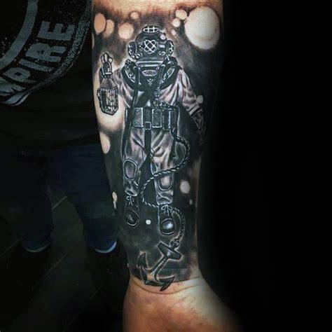 60 Diver Tattoo Designs For Men Underwater Ink Ideas Creativity Tattoos Forearm Tattoos On