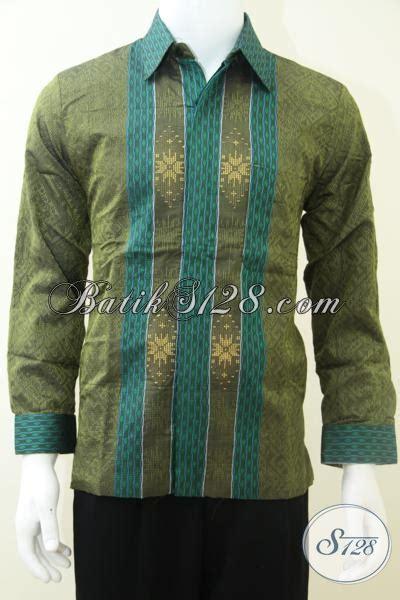 Kemeja Pria Spark Lp Putih kemeja tenun warna hijau keren kombinasi warna bagus